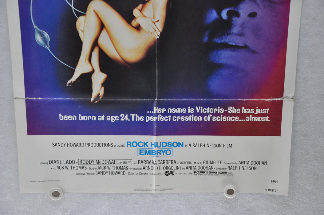 1976 Embryo Original 1SH Movie Poster 27 x 41 Rock Hudson Barbara Carrera   - TvMovieCards.com