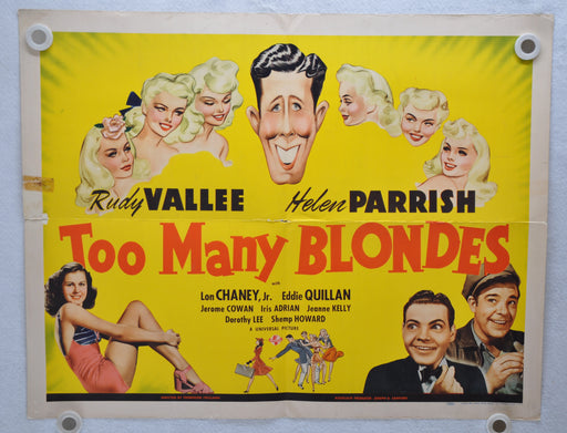 Too Many Blondes 1941 Original Half Sheet Movie Poster Rudy Vallee Helen Parrish   - TvMovieCards.com