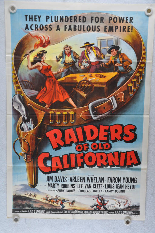 1957 Raiders of Old California Original 1SH Movie Poster Jim Davis Arleen Whelan   - TvMovieCards.com
