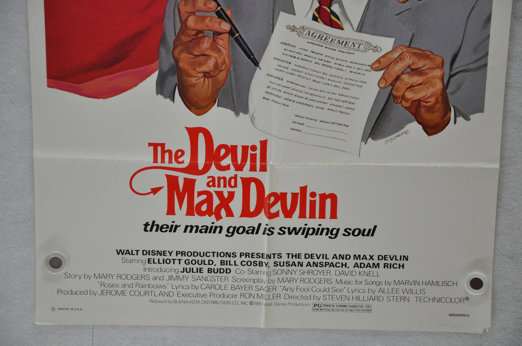 1981 The Devil & Max Devlin Original 1SH Movie Poster 27 x 41 Elliott Gould   - TvMovieCards.com