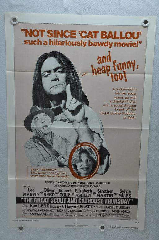 1976 The Great Scout & Cathouse Thursday Original 1SH Movie Poster 27 x 41