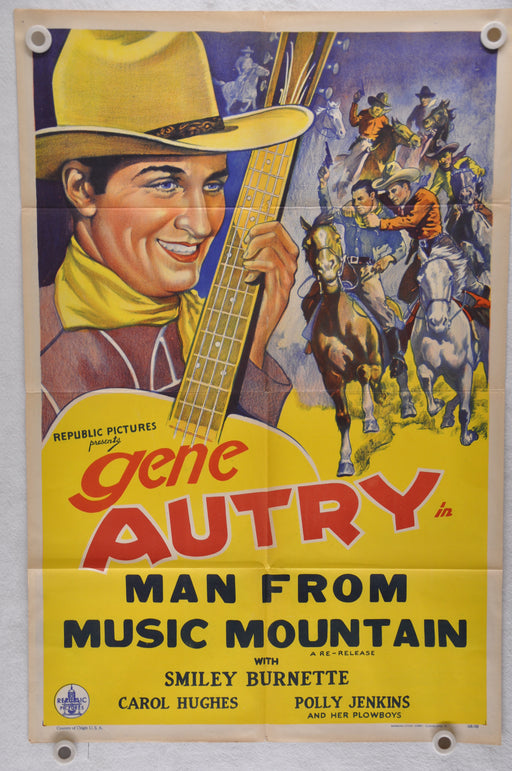 1945 Man from Music Mountain Original 1SH Movie Poster Gene Autry Carol Hughes   - TvMovieCards.com