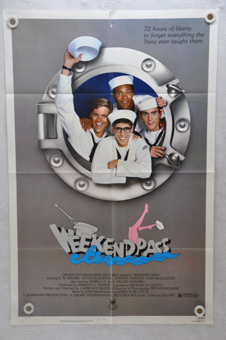 1984 Weekend Pass Original 1SH Movie Poster 27 x 41 Patrick Houser, Chip McAllis   - TvMovieCards.com