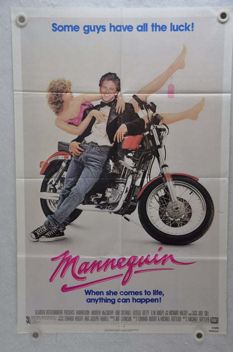 1987 Mannequin Original 1SH Movie Poster 27 x 41 Andrew McCarthy, Kim Cattrall, Estelle Getty   - TvMovieCards.com