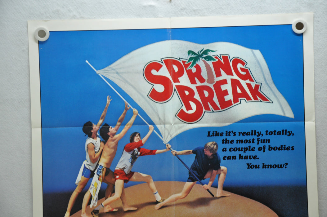 1983 Spring Break Original 1SH Movie Poster 27 x 41 David Knell Steve Bassett   - TvMovieCards.com