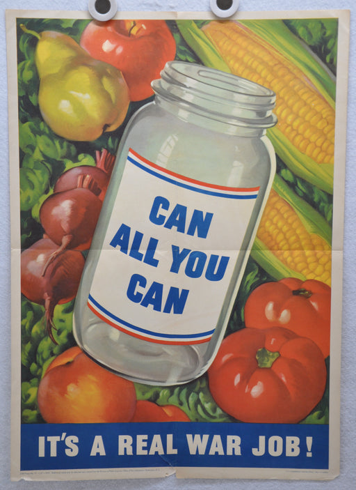 "Original Vintage WWII Poster ""Can All You Can"" 1943 USA Homefront (16"" X 22"")   - TvMovieCards.com"