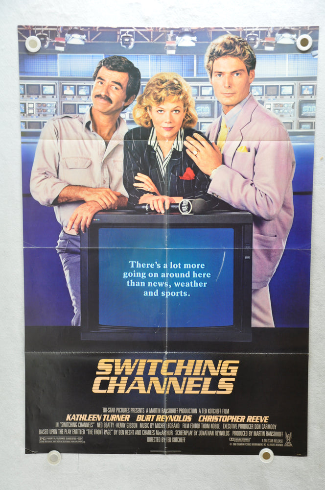 1988 Switching Channels Original 1SH Movie Poster 27 x 41 Kathleen Turner   - TvMovieCards.com