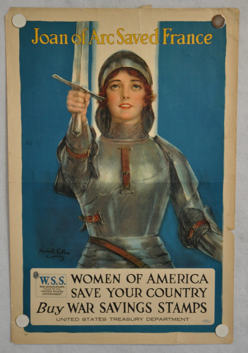 "World War I ""Joan of Arc Saved France"" Propaganda War Poster (20"" X 30"")   - TvMovieCards.com"