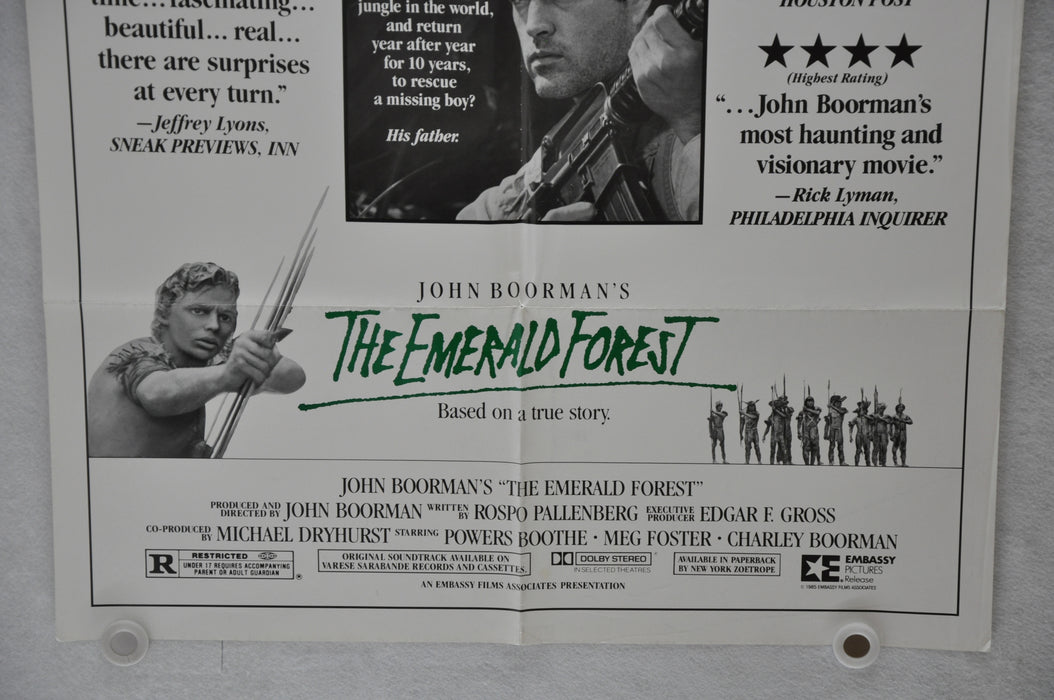 1985 The Emerald Forest Original 1SH Movie Poster 27x41 Powers Boothe Meg Foster   - TvMovieCards.com