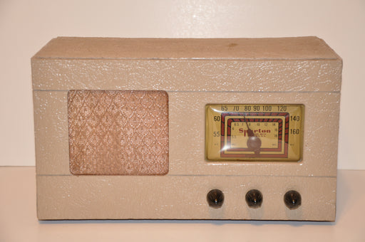 Antique Sparton Sparks-Withington Model 6CL66 6-66A Tube Radio 1948 Working!   - TvMovieCards.com