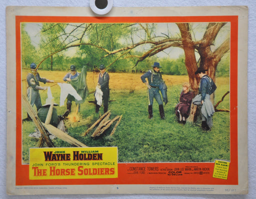 The Horse Soldiers Lobby Card #6 Movie Poster John Wayne William Holden   - TvMovieCards.com