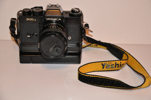 Yashica FR1 FR I 35mm Film SLR Camera + ML 1:2.8 35mm Lens + Yashica Winder   - TvMovieCards.com