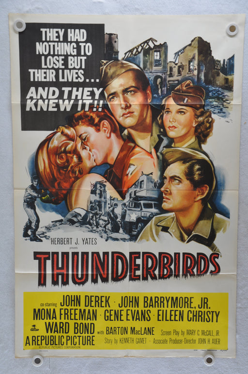 1952 Thunderbirds Original 1SH Movie Poster John Derek, John Drew Barrymore   - TvMovieCards.com