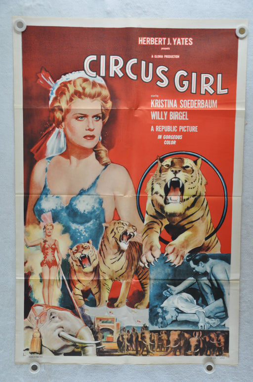 1956 Circus Girl Original 1SH Movie Poster Kristina Söderbaum Willy Birgel   - TvMovieCards.com