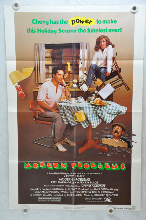 1981 Modern Problems Original 1SH Movie Poster 27 x 41 Chevy Chase D'Arbanville   - TvMovieCards.com