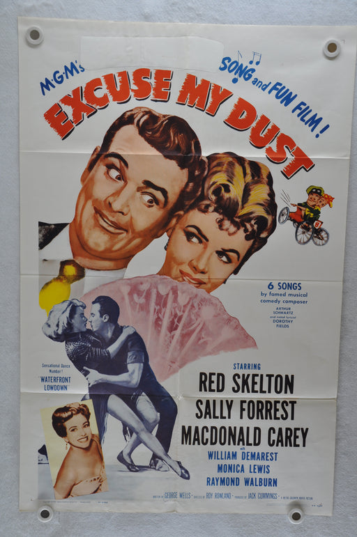 1951 Excuse My Dust Original 1SH Movie Poster Red Skelton Sally Forrest   - TvMovieCards.com