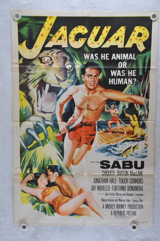 1955 Jaguar Original 1SH Movie Poster Sabu, Chiquita Johnson, Barton MacLane   - TvMovieCards.com