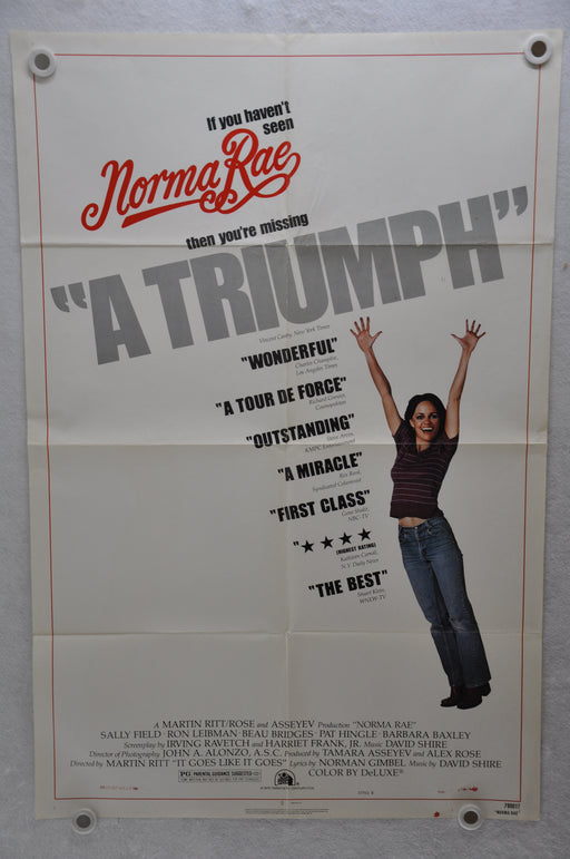 1979 Norma Rae Original 1SH Movie Poster 27 x 41 Sally Field Beau Bridges