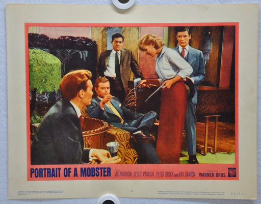 Portrait of a Mobster 1961 Lobby Card #8 Movie Poster Vic Morrow Leslie Parrish   - TvMovieCards.com