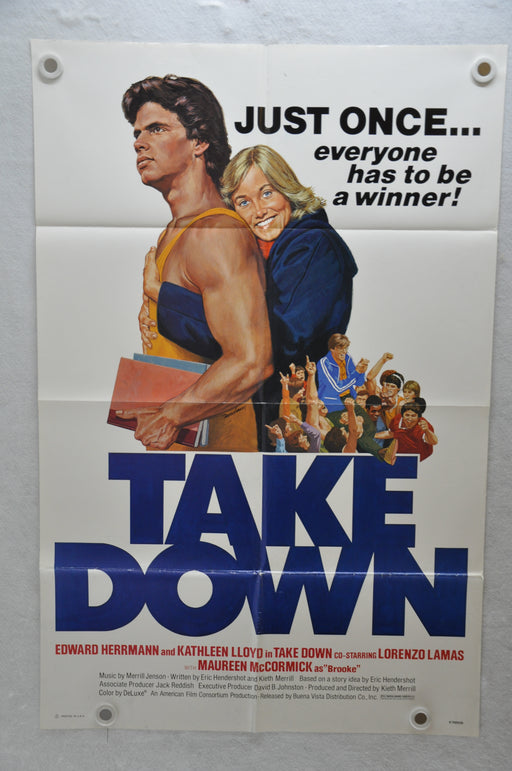 1979 Take Down Original 1SH Movie Poster 27 x 41 Edward Herrmann