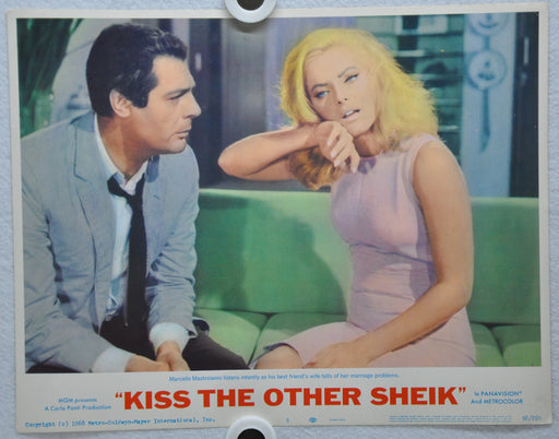 Kiss the Other Sheik 1965 Lobby Card #5 Movie Poster Marcello Mastroianni   - TvMovieCards.com