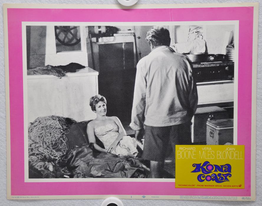 Kona Coast 1968 Lobby Card #1 Movie Poster Richard Boone Vera Miles Joan Blondel   - TvMovieCards.com