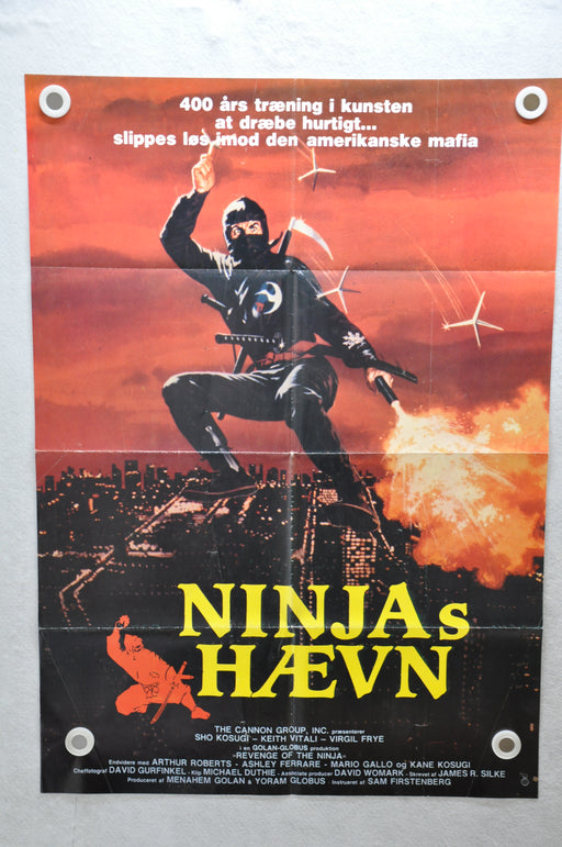 1983 Revenge of the Ninja (Ninja's Haevn) Demark Original Movie Poster 24 x 34   - TvMovieCards.com