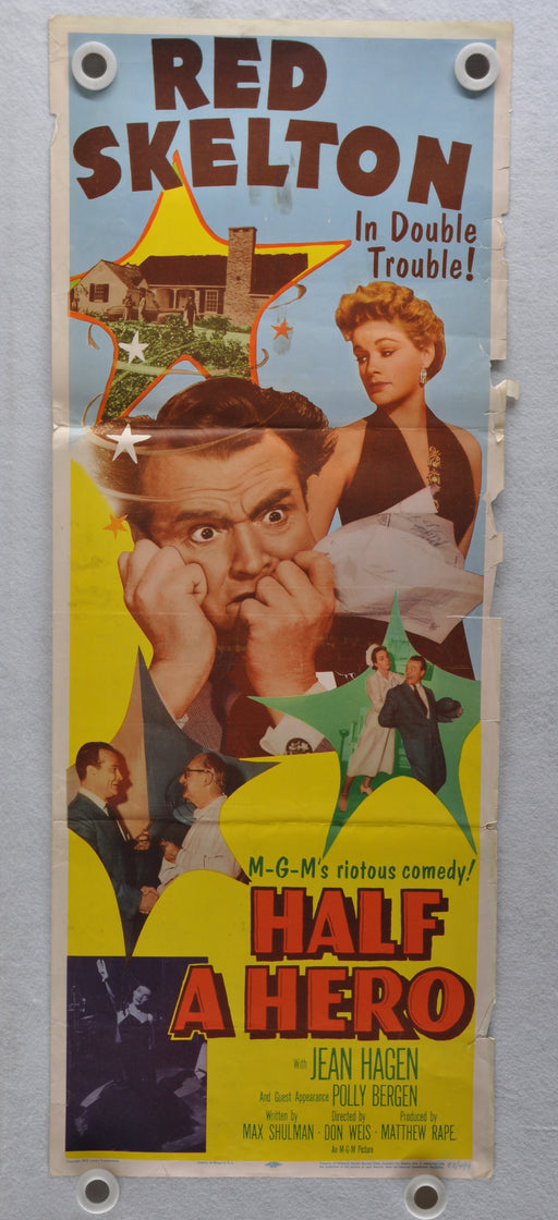 1953 Half A Hero Original Insert Movie Poster Red Skelton Jean Hagen   - TvMovieCards.com