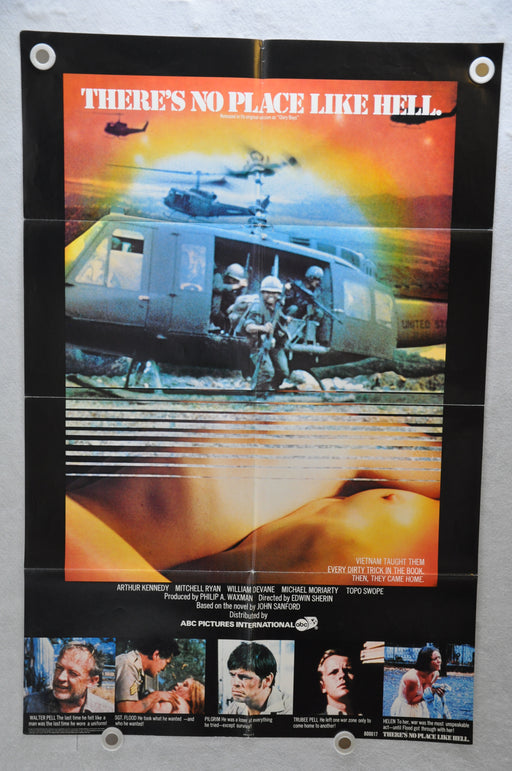 1980 There's No Place Like Hell (Glory Boys) Original 1SH Movie Poster 27 x 41