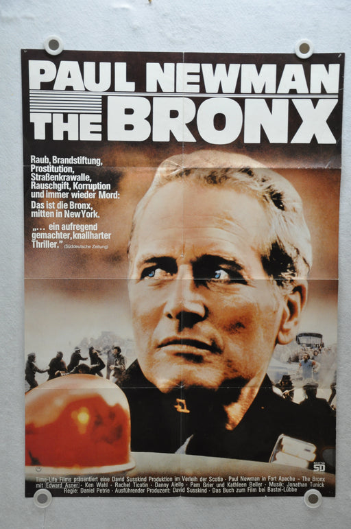 1981 Fort Apache, The Bronx German Original Movie Poster 23 x 33 Paul Newman   - TvMovieCards.com