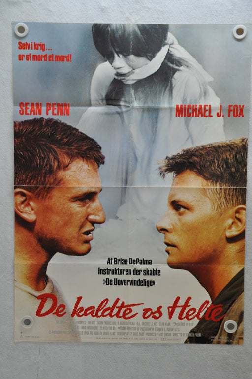1989 Casualties of War Danish Original Movie Poster 24 x 33  Michael J. Fox   - TvMovieCards.com