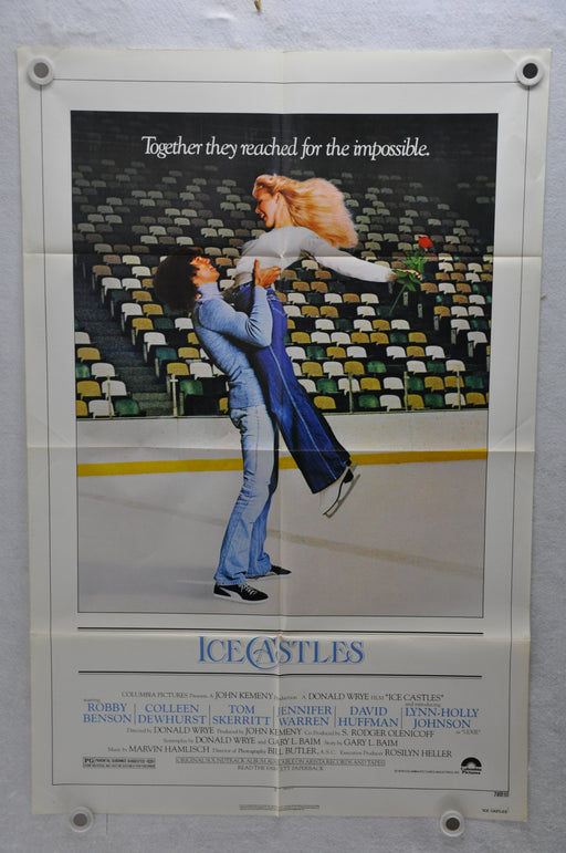 1978 Ice Castles Original 1SH Movie Poster 27 x 41 Lynn-Holly Johnson   - TvMovieCards.com
