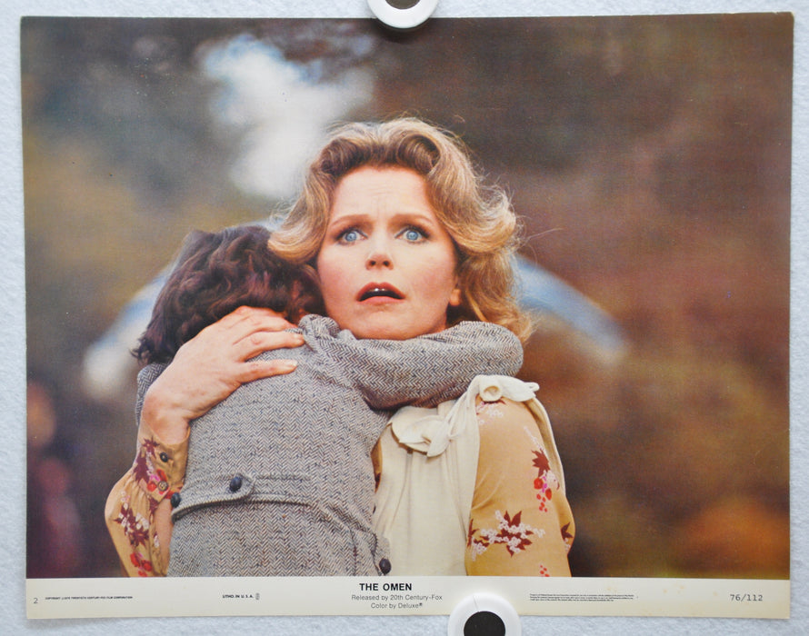 The Omen Lobby Card #2 1976 Movie Poster Gregory Peck Lee Remick Harvey Stephens   - TvMovieCards.com