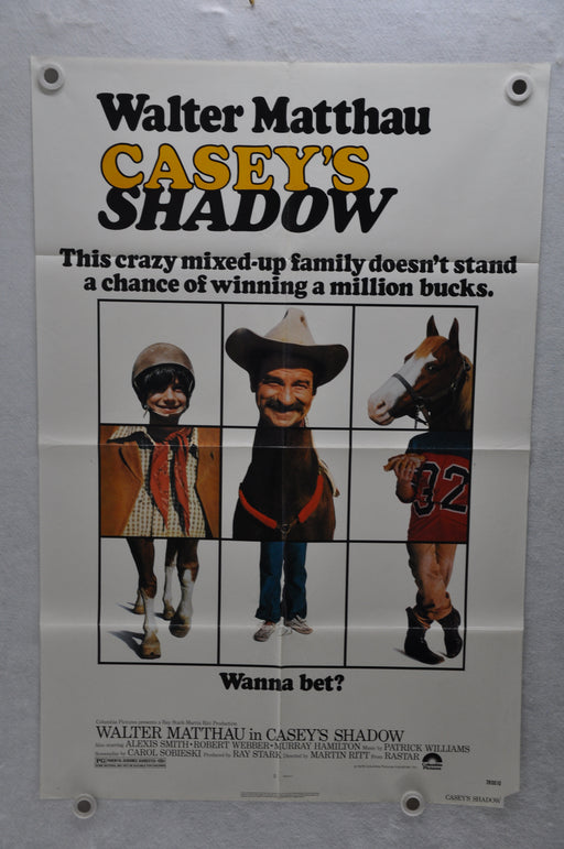 1978 Casey's Shadow Original 1SH Movie Poster 27 x 41 Walter Matthau   - TvMovieCards.com