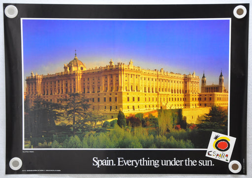 Vintage 1980s Spain Travel Poster Everything Under the Sun Royal Palace 19 x 26   - TvMovieCards.com