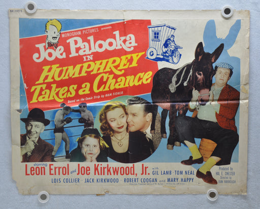 1950 Joe Palooka in Humphrey Takes a Chance Original Half Sheet Movie Poster   - TvMovieCards.com