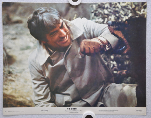 The Omen Lobby Card #7 1976 Movie Poster Gregory Peck Lee Remick Harvey Stephens   - TvMovieCards.com