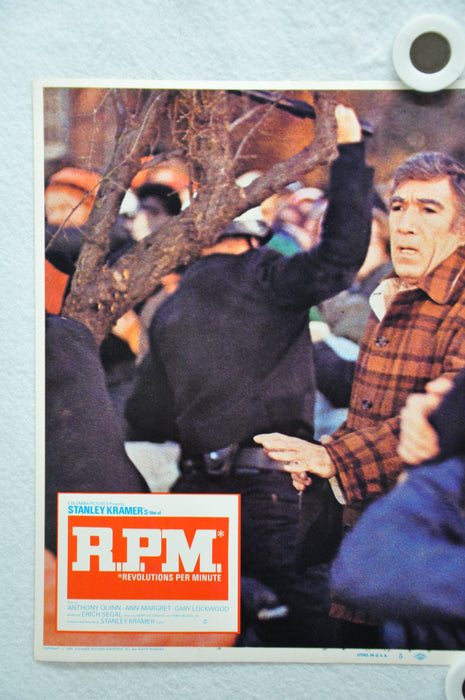 Rare R.P.M. Lobby Card 1970 Movie Poster Anthony Quinn Ann-Margret Gary Lockwood   - TvMovieCards.com