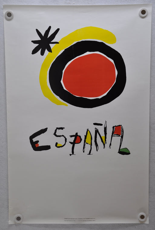 "Vintage 1980s Spain Travel Poster ""Everything Under the Sun"" Joan Miro 24 x 37   - TvMovieCards.com"