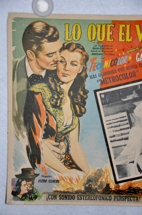 Gone With The Wind 1968 Mexican Lobby Card Movie Poster Clark Gable Vivien Leigh   - TvMovieCards.com
