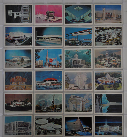 New York World's Fair Attractions Vintage Card Set 24 Cards Ed-U-Cards 1963   - TvMovieCards.com