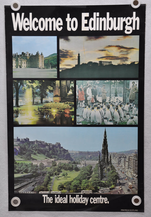 "Vintage 1980s ""Welcome to Edinburgh"" Travel Poster "" 20 x 30   - TvMovieCards.com"