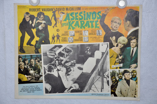 Man From Uncle Karate Killers 1967 Mexican Lobby Card Movie Poster David McCallum   - TvMovieCards.com