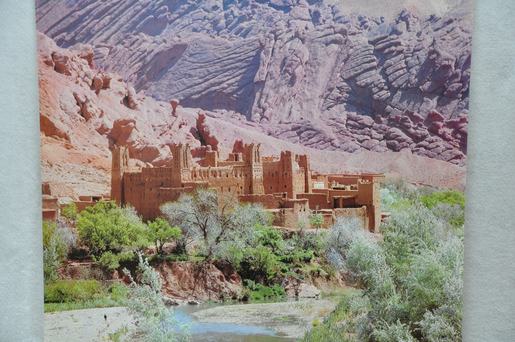 "Vintage 1970s ""Maroc Morocco "" Advertising Tourism Travel Poster 25"" x 39""   - TvMovieCards.com"
