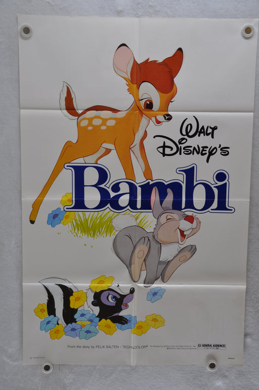 1982 Walt Disney Bambi Rerelease Original 1SH Movie Poster Hardie Albright, Stan   - TvMovieCards.com