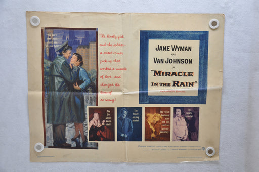 1956 Miracle in the Rain Original 1SH Movie Poster Jane Wyman Van Johnson   - TvMovieCards.com