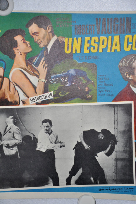 The Man From Uncle - The Spy With My Face 1965 Mexican Lobby Card Movie Poster   - TvMovieCards.com