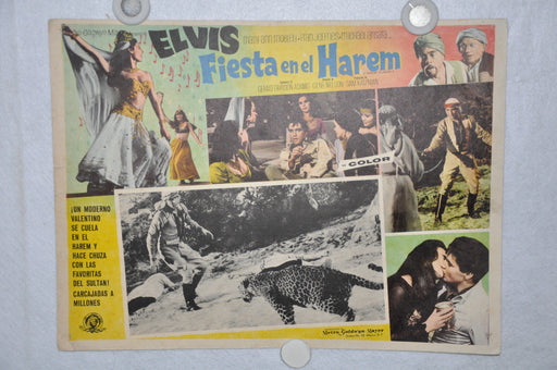 Harum Scarum 1965 Mexican Lobby Card Movie Poster Elvis Presley   - TvMovieCards.com