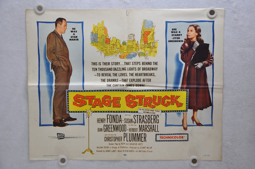 1958 Stage Struck Original Half Sheet Movie Poster Henry Fonda, Susan Strasberg   - TvMovieCards.com