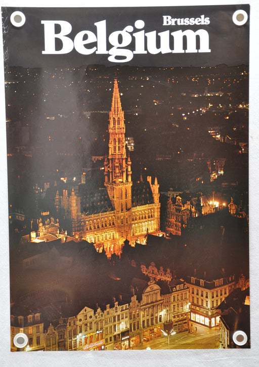 "Vintage 1970s ""Grand Place"" Brussels Belgium Tourism Travel Poster 23"" x 33   - TvMovieCards.com"